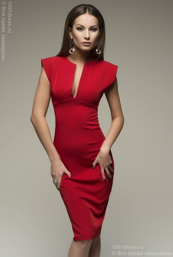 Красное платье-футляр , красный в интернет магазине Платья для самых красивых 1001dress.Ru