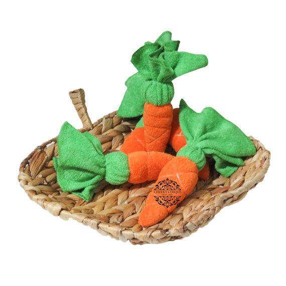 BUY 12 GET 1 FREE - Washcloth Carrots, Diaper Cake, Kitchen Cake, Housewarming Gift, Washcloth Vegetables, Peter Rabbit, Baby Shower Favors