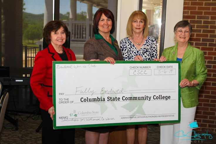 Major Accomplishment:  $12,500 Endowment for Columbia State Community College for benefit of Williamson County female residents in perpetuity