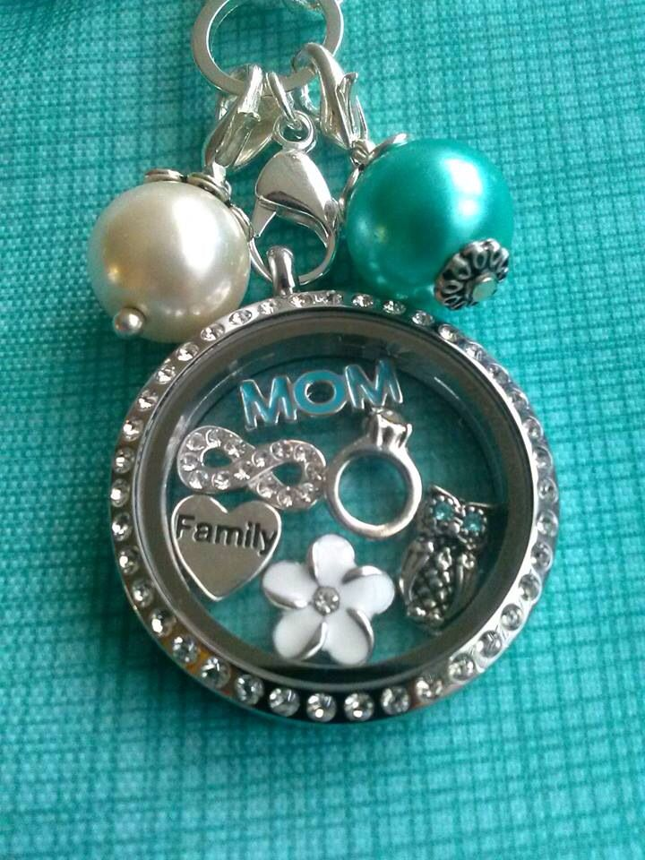 Origami Owl for Mom. {Love it? Order directly at www.charmingmisst.origamiowl.com or contact me and we can personalize this look for you!}