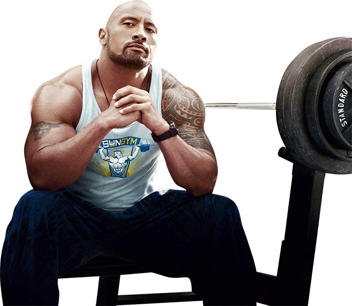 Dwayne Johnson Workout Wallpaper