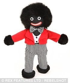 Golliwog----- vintage popular English children's toy/ although probably not PC today. Personally, I love my Gollys. And what's good enough for a duchess..... ;) (could be meant as a gift for George or Charlotte)