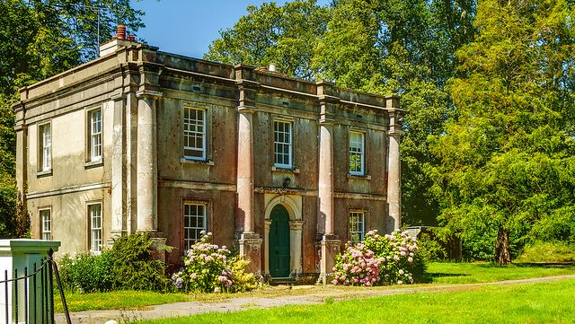 The Gatehouse of Stansted House in West Sussex, UK