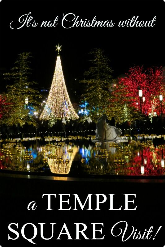 Christmas at Temple Square in Salt Lake City, Utah, is truly a magical experience! #templesquare #saltlakecity #christmas