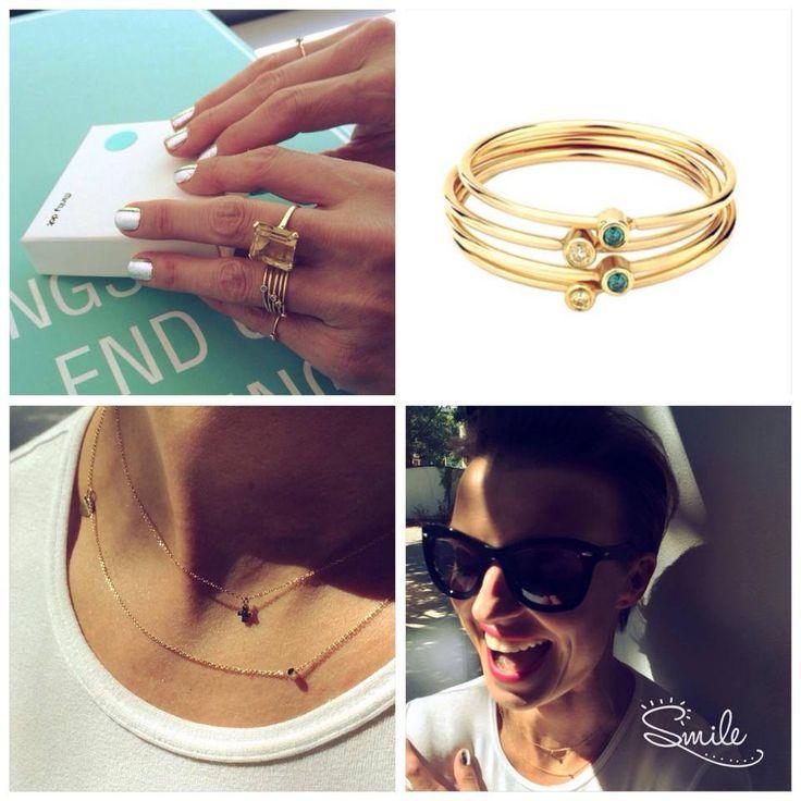 Kasia Sokołowska nosi naszą kolekcję Dot i Lila z diamentami