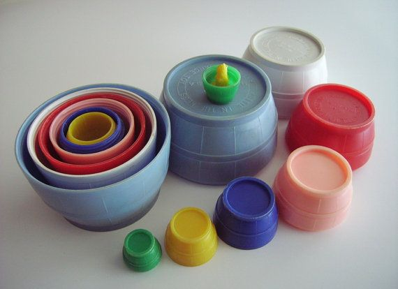 Vintage Nesting Stacking Barrels.  Playskool?  I remember playing with this for hours.
