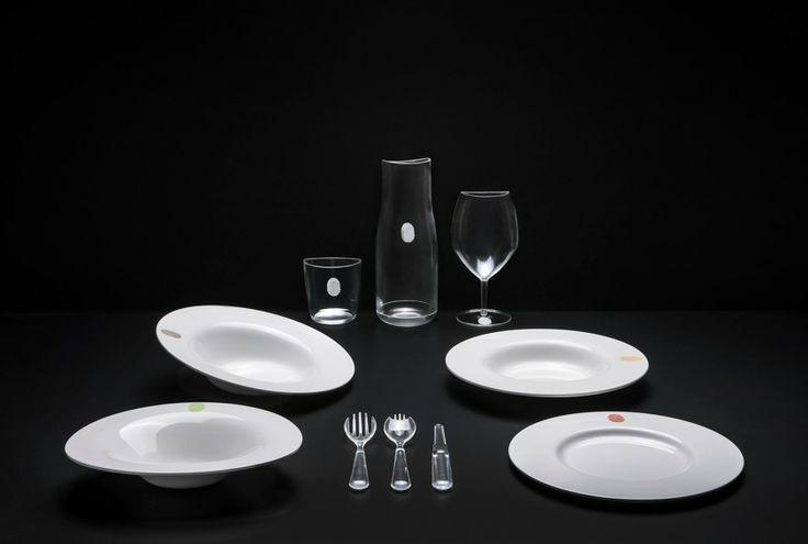 Kartell I.D.ISh tableware collection designed by D'O, design chef Davide Oldani, 2014