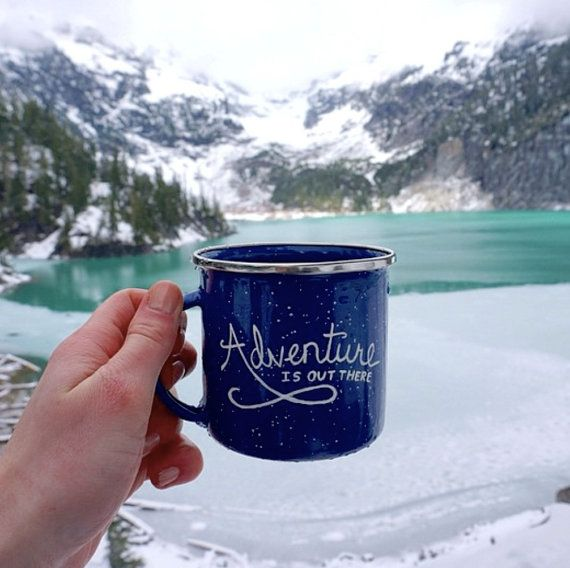 Adventure Is Out There - Enamel Mug