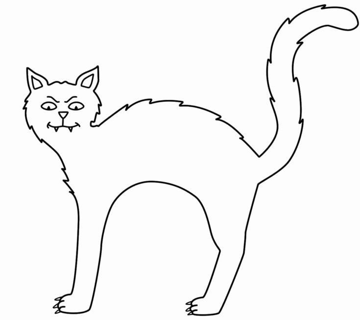 Halloween Cat Coloring Pictures Unique Warrior Cat Lineart ...