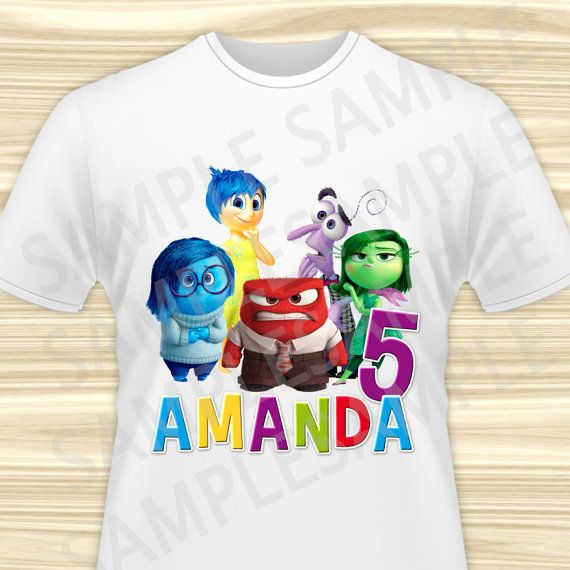 Inside Out Iron On Transfer  Inside Out Birthday Girl Iron
