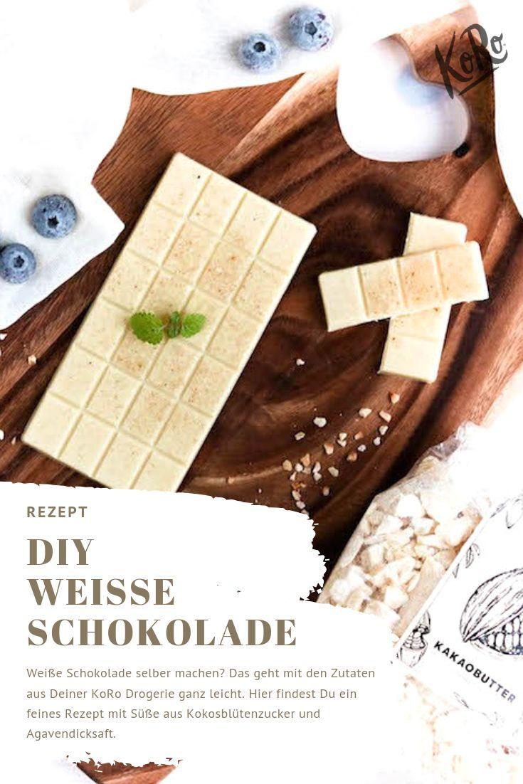 Weisse Schokolade In 2020 Schokolade Selber Machen Schokolade Ohne Zucker Vegane Schokolade Selber Machen