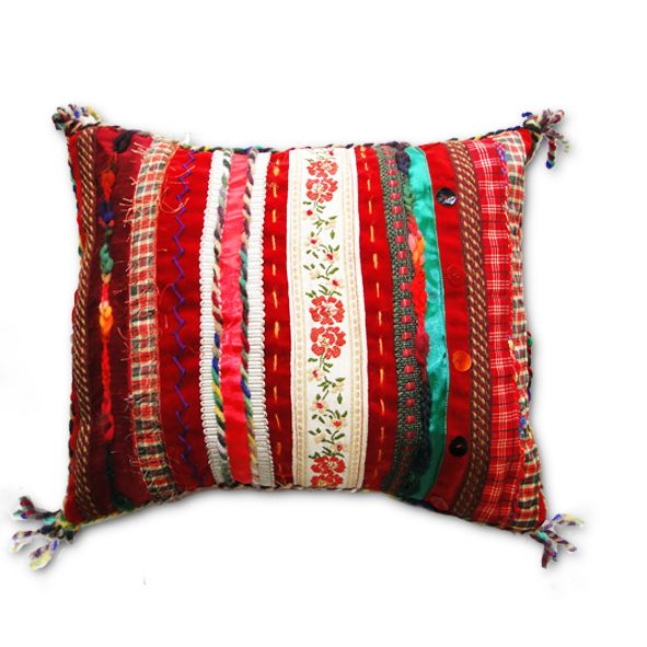 Luxury Decorative Cushion - Rich Red