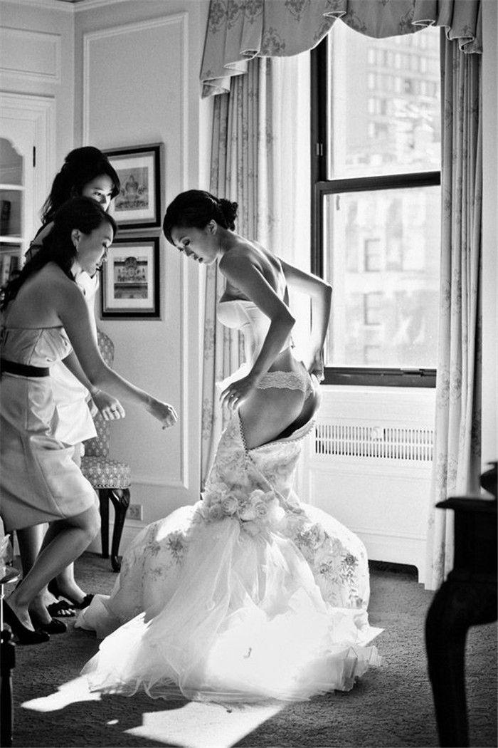 Soft ass Wedding day blow jobs