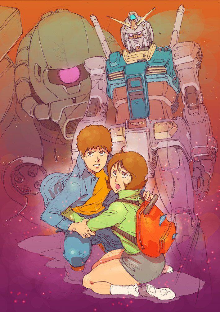 Mobile Suit Gundam: The Origin illustration by character designer and key animator Tsukasa Kotobuki (ことぶきつかさ).