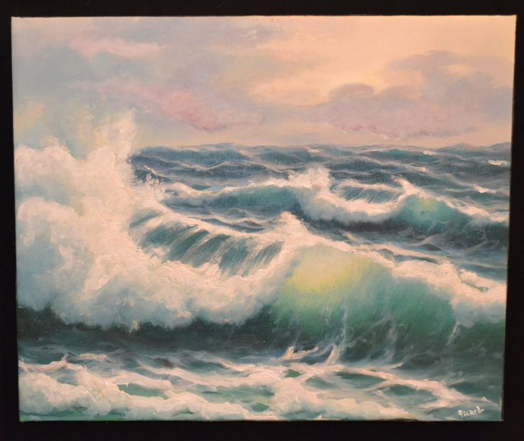 "James Picard - Seascape No. 3. Oil on Canvas. 24.25"" x 20"""
