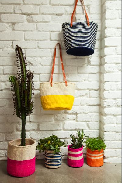 Market bags and baskets.