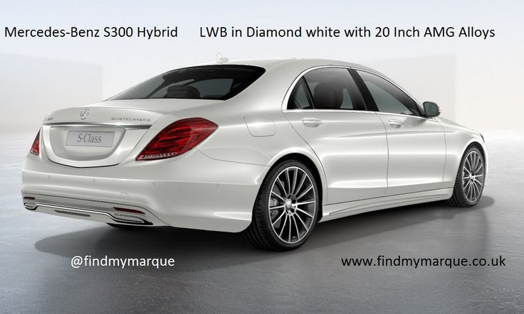 Mercedes S300 Hybrid Diamond White 20 Inch AMG Alloys