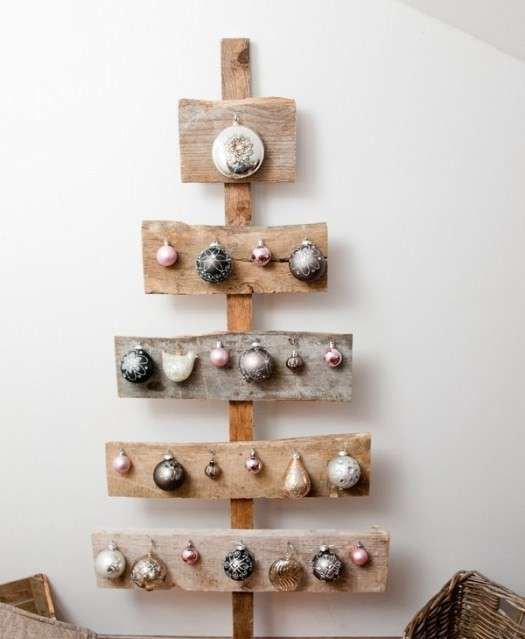 Alberi di Natale da parete - Albero di Natale da parete, fai da te
