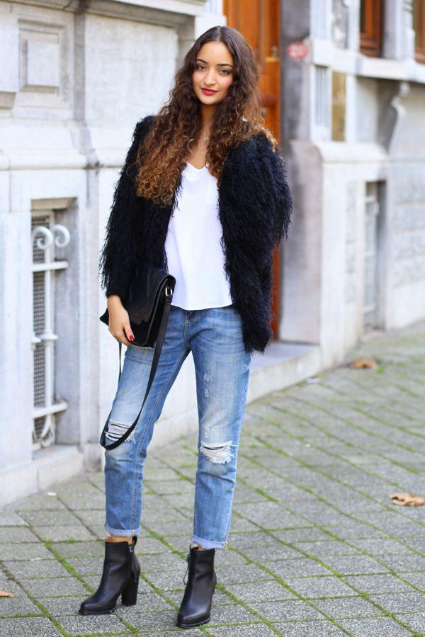 Stylisch und warm: Die Zotteljacke (von Chicwish) gehört für Bloggerin Ranim von The perfect disease in diesem Herbst unbedingt mit dazu. Dazu trägt sie