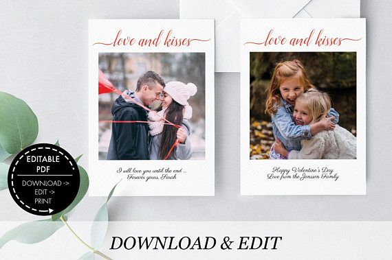 Valentine's Day Photo template Photo Card template