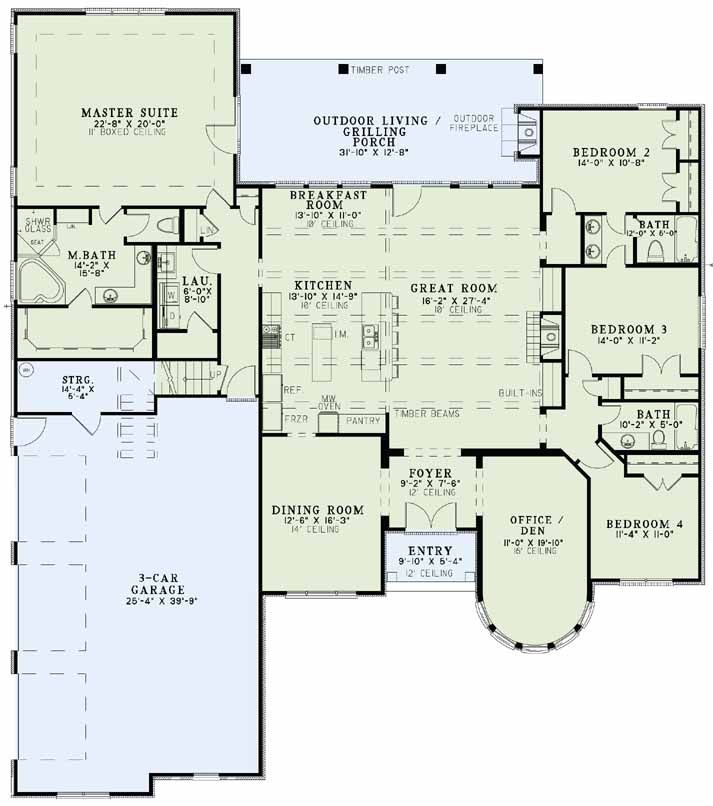 25 best ideas about ranch floor plans on pinterest for 4 bedroom ranch