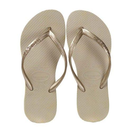 Havaianas Slim homok-aranyszín női papucs I feminashop.hu
