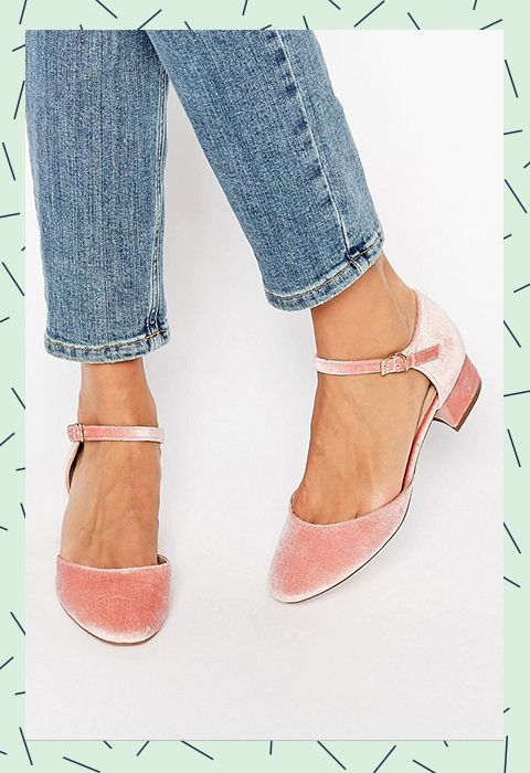 These pretty pink pumps in new-season velvet are your little slice of girlie heaven for any big event