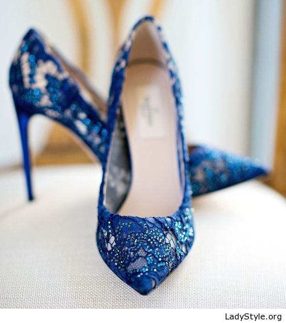 7abbde64081a Beautiful blue lace pumps - LadyStyle