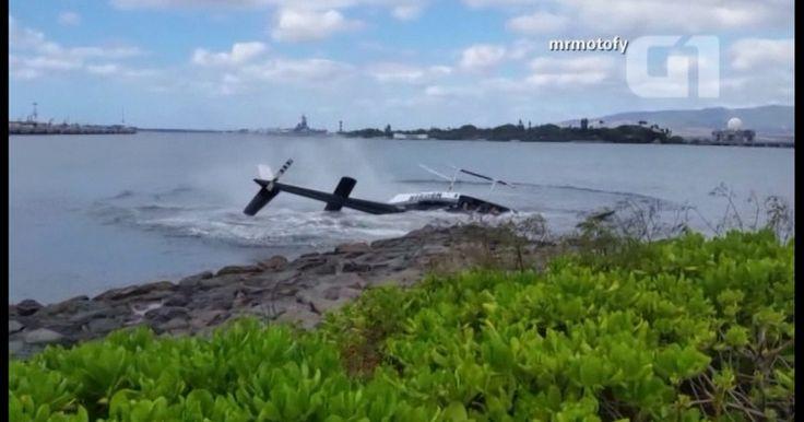 Vídeo mostra helicóptero que caiu no Havaí