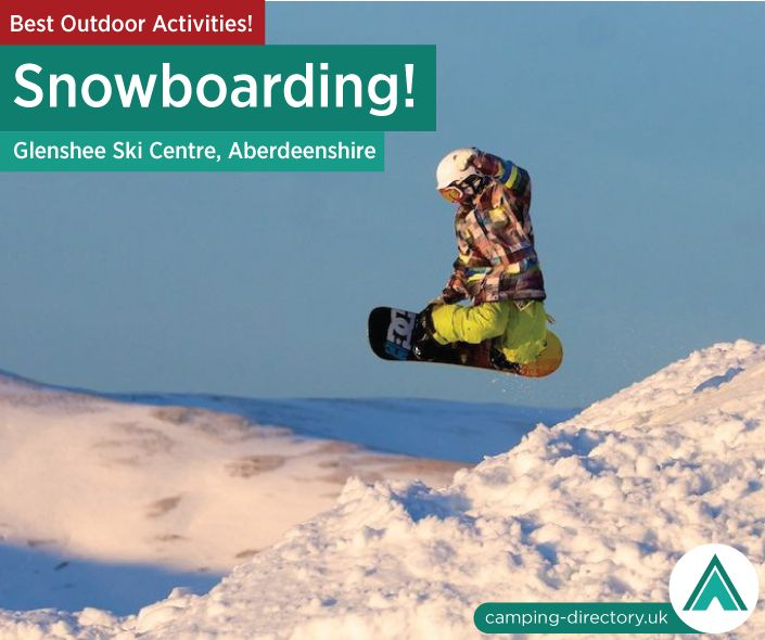 Outdoor Activity: Glenshee Ski Centre, Aberdeenshire, Scotland. Glenshee's impressive 22 lifts and 36 runs offer an amazing diversity of natural terrain for all standards of snowboarders. Outdoors. Camping. Campsite. Holiday. UK. Travel. Adventure.