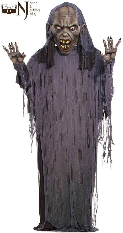Great for a haunted house or your own home display. 12 foot hanging zombie with large polyfoam head and hands with frame draped with black robe and tattered gauze. Was: $200.00 Now: $100.00 #Zombie #HangingProp ##Halloween #Halloweenday #Halloweenoffer #Halloweendeal #bestdeal #Halloweenprop