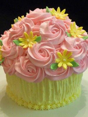 Top Buttercream Rosette Cakes