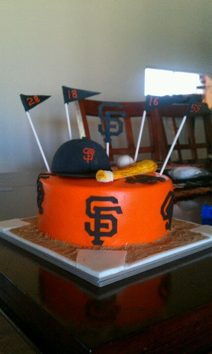 Awesome SF giants cake made for my 25 th bday by JK Cakes Susanville ca