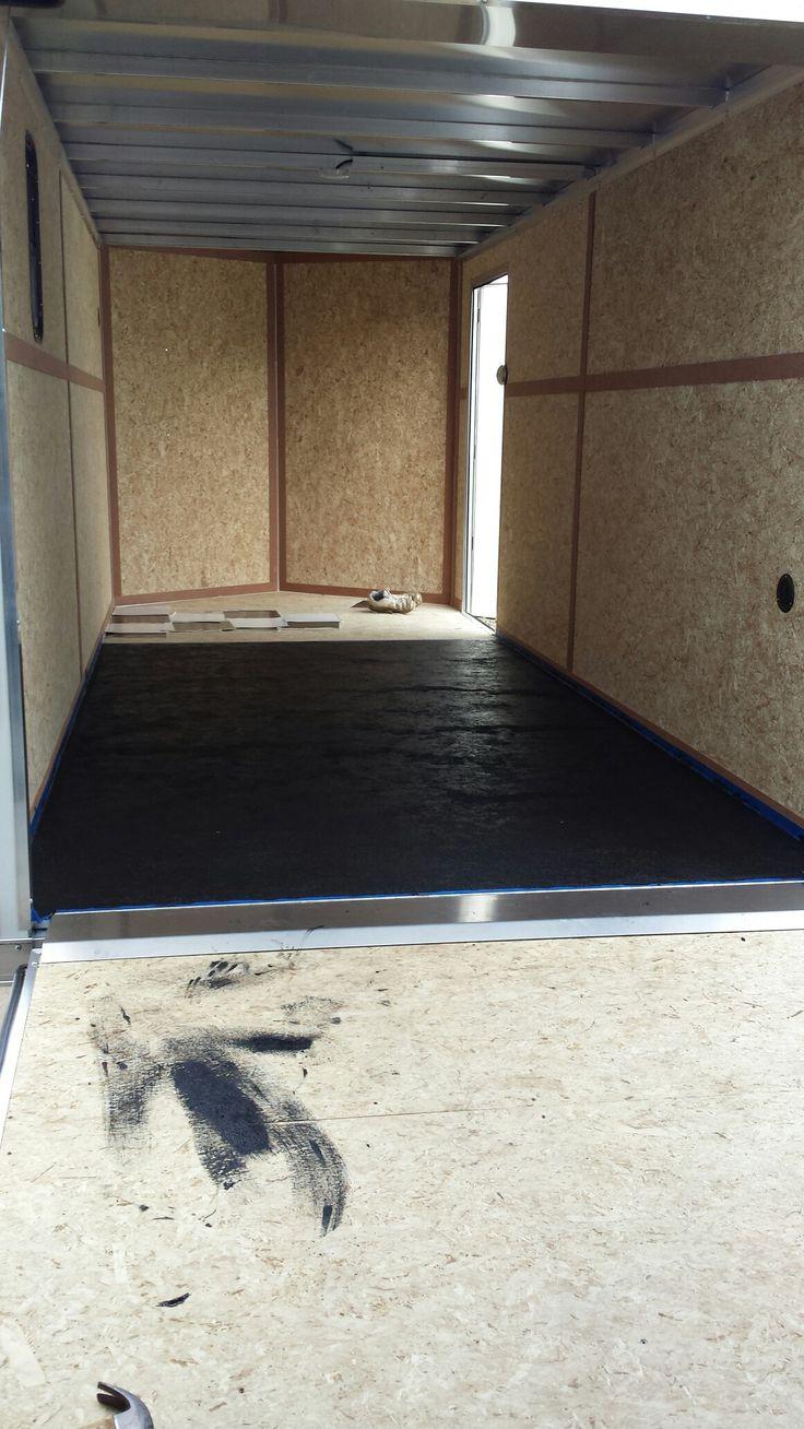 Non Skid Floor Going In Used Bedliner Paint For Truck