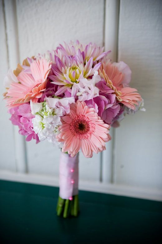 gerber daisies bouquets | Bridesmaid bouquet « Bollea – Floral Design Gallery