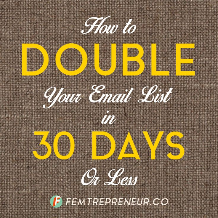 Great tips on developing an #email #list for your #blog.