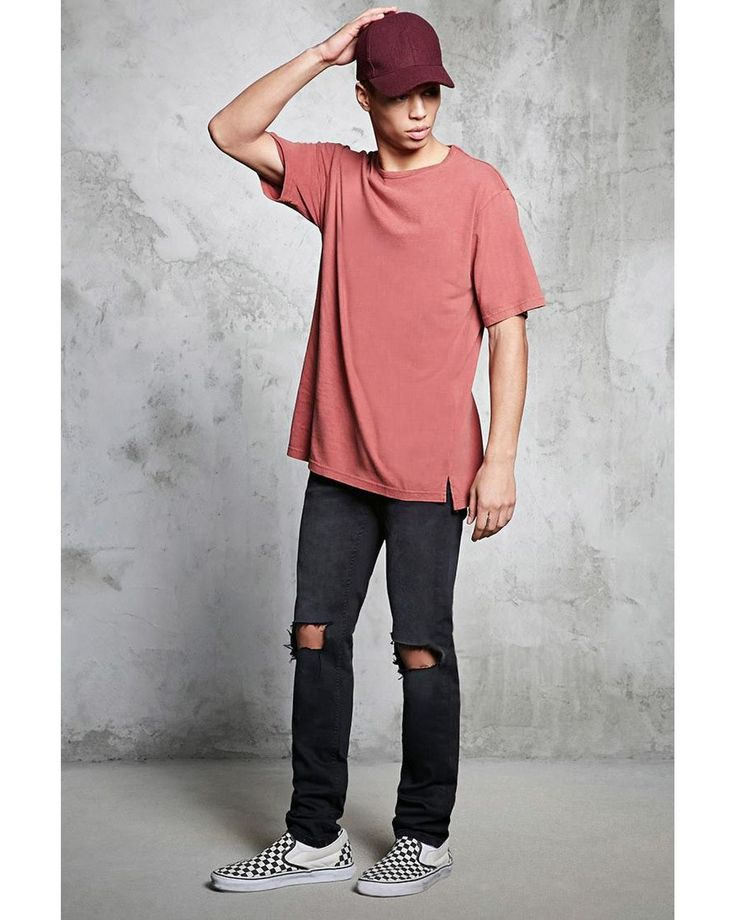 Buy Forever 21 Men's Red Slub Knit Crew Neck Tee, starting at $12. Similar products also available. SALE now on!