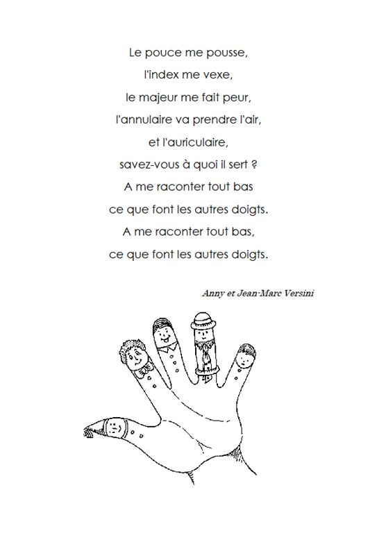 poésie doigts