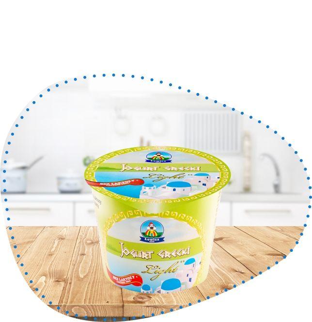 Jogurt grecki light bez laktozy 250 g | OSM Łowicz