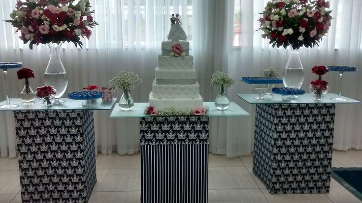mesa de bolo tom azul