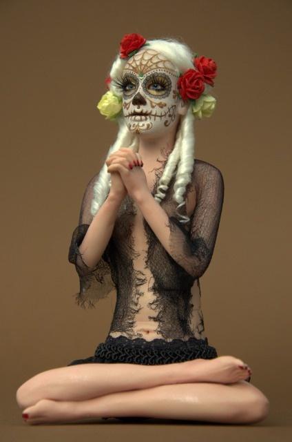 my ooak .... by Alessandra Nicolin: SkullRoses - Teschio di rose
