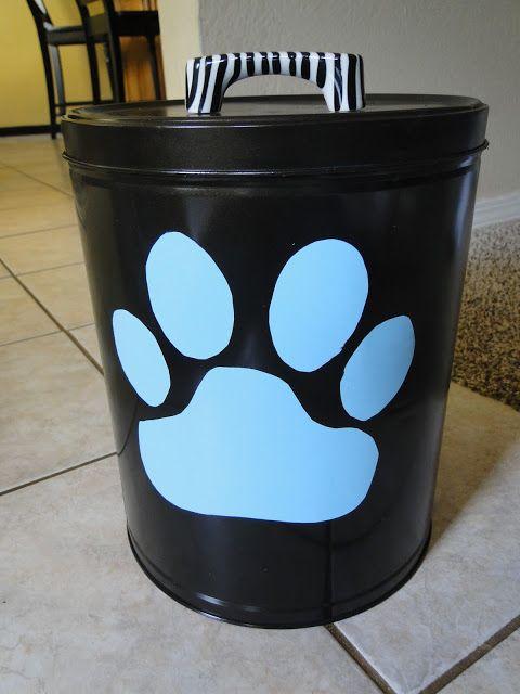 frazzled JOY: Doggone Cuteness (dog food canistery) |#dog #crafts #DIY