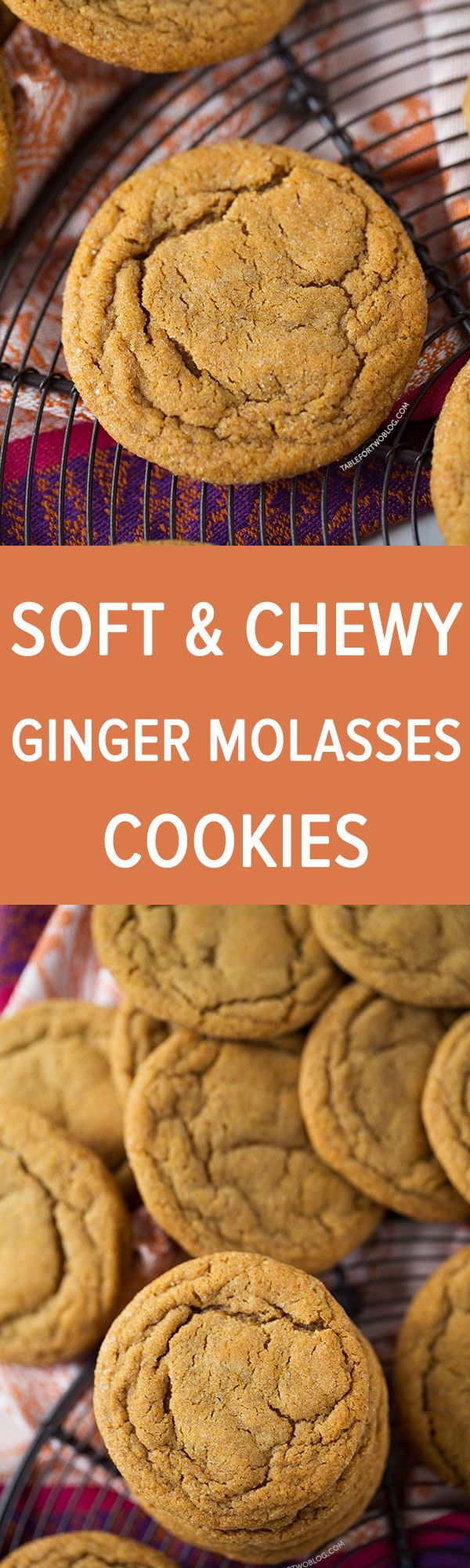 These soft and chewy ginger molasses cookies are guaranteed going to be the softest and chewiest cookies you'll ever make!