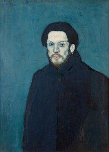Pablo Picasso : Autoportrait, 1901. Musée Picasso Paris