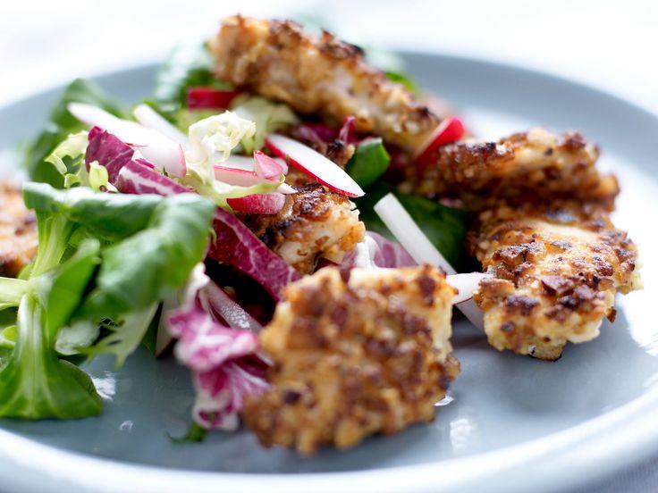 Découvrez la recette du poulet pané aux noisettes