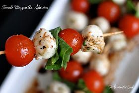 The Enchanted Cook: Tomato Mozzarella Skewers