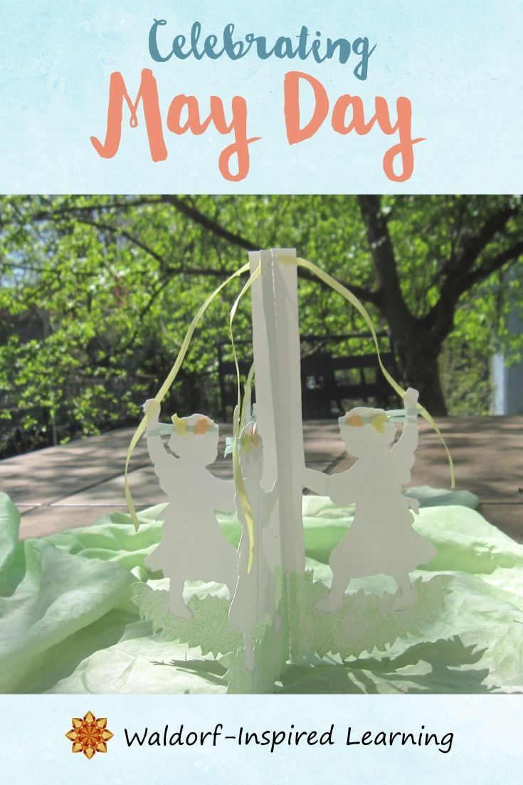 Wondering how to celebrate May Day? Here are lots of ideas for celebrating with your children - May Day cakes, May Day baskets, singing and dancing around the Maypole. Celebrate spring with these fun activities. #waldorfhomeschooling #MayDay