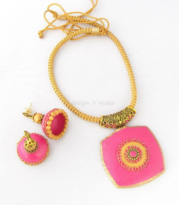 Polymer clay necklace  www.udesignvmake.com