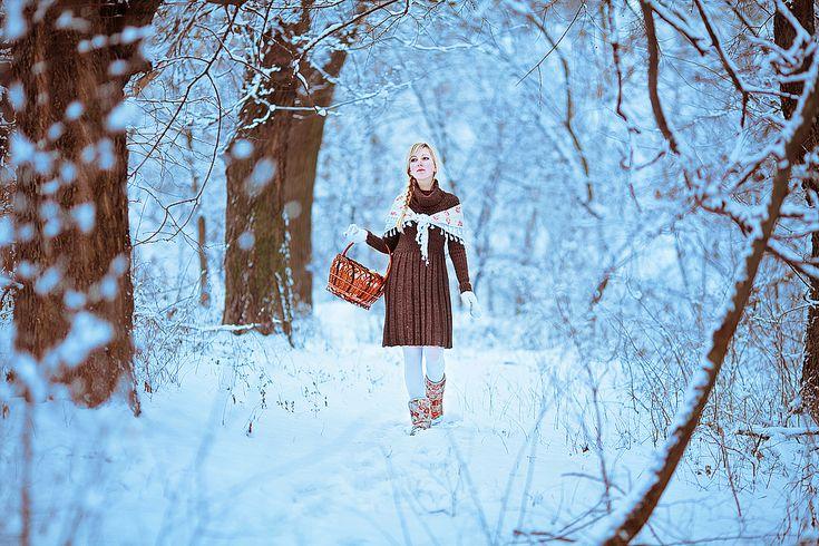 Идеи зимней фотосессии в лесу на фото - Фотография.Инфо