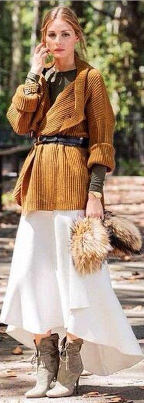 Olivia Palermo: Sweater – Diane von Furstenberg  Shoes – Aquazzura + Olivia Palermo  Belt – BCBG  Sunglasses – Wunderkind